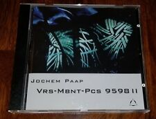 "Jochem Paap - ""Vrs-Mbnt-Pcs 959811"" - Fax Records Germany - Namlook/ambient cd"
