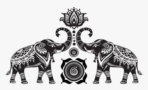 Boho indian elephants mandala  IRON ON T SHIRT TRANSFER