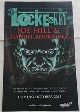 SDCC 2015 EXCLUSIVE SIGNED GABRIEL RODRIGUEZ  Locke & Key  Audio  Poster 17 x 11