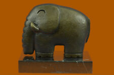 Bronze Sculpture Model Chubby Elephant by Dali  Collectible Figurine Figure Gift