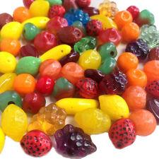 Carmen Miranda Glass Fruit Beads Apple Orange Lemon Lime Banana Strawberry