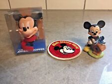 Mickey Mouse Figurine Walt Disney World Patch & Mickey Mouse Antenna Topper