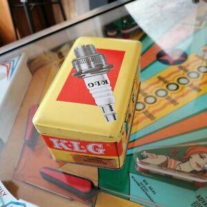 Ancienne  boite à bougies KLG en tôle sérigraphiée-France- étiquette rare