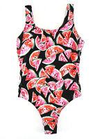 Damen Badeanzug 40 42 Pink Melonen Sexy Form Bademode Einteiler Schwimmanzug
