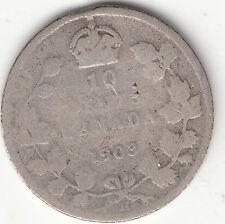 .925 Silver 1903H Edward VII 10 Cent Piece G 4