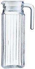 Luminarc 1L Fridge Jug Water Glass Pitcher Lid Drink Juice Milk Kitchen Square