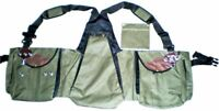 Falconry Vest, Hawking, Bird Handling Codura Vest (Olive Green Color) (All Size)