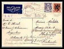 GP GOLDPATH: FRANCE POST CARD 1945 AIR MAIL _CV691_P05