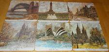 HUGE LOT OF 6 SIGNED ALEXEI JAWDOKIMOV COASTER AUSTRALIA  ART 1972 VINTAGE
