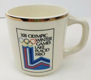 VTG XIII Olympic Winter Games Lake Placid 1980 Coffee Cup 12 Ounce Capacity EUC