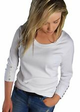 PLus Size 18-24 SALE Ladies Ivory or White 3/4 sleeve GOOD QUALITY tops TEES