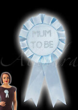 Blue Mum to Be Rosette Boy Baby Shower Party Essential Accessory