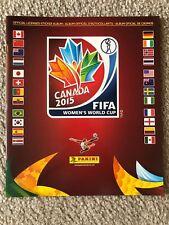 2015 Panini Women's World Cup Soccer Empty Album Canada Rare!!