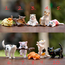 10 Styles Kawaii Kitty Miniature Animals Dolls House Cat Toys Handmade for Kids