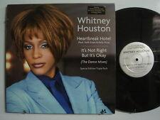 "WHITNEY HOUSTON Heartbreak Hotel + DANCE MIXES 3x12"" ARISTA w/ STANDEE L@@K!"