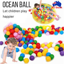 50-800pc Ball Pit Balls Play Kids Plastic Baby Ocean Soft Toy Colourful Playpen