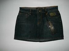 ED HARDY Original Stretch Blue Wash Denim JEAN Mini SKIRT Womens Size 27  NEW