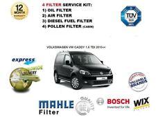 Para Volkswagen VW Caddy 1.6 TDI 2010 - > Nuevo Filtro Aire Aceite Del Polen de combustible Kit de servicio