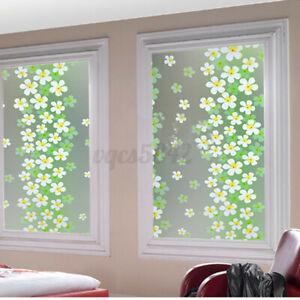 200x45cm Self-adhesive Window Glass Sticker Privacy Film Bathroom Home Deco C