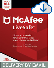 McAfee LiveSafe 2020 Antivirus 5 Devices 2 Year PC, MAC- Delivery by Email*