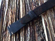 Cinturino vintage in cuoio grezzo cuciture ecrù 22mm Bicolore watch band strap