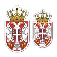 2x Serbian Coat Of Arms Laptop Macbook Bumper Sticker Flag Bumper Water Proof...