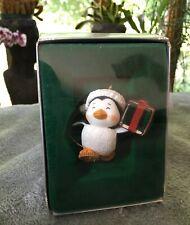 Enesco Treasury of Christmas Ornament Holiday Penguin w/Ice Cube & Snow Shoes
