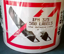 """New DE LEONE IPM-325 3"""" x 4"""" DO NOT USE BLADES TO OPEN Labels 500 COUNT Label"""