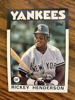 1986 Topps   #500 Rickey Henderson New York Yankees  NrMt