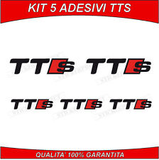 ADESIVI AUDI TT TTS KIT 5 STICKERS LOGO SLINE A3 A4 A5 A6 Q3 Q5 Q7 RS S3 quattro