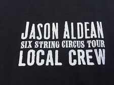 JASON ALDEAN size XL T SHIRT String Circus Local Crew Tour 2016 Tour Black