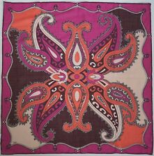 NWOT Authentic EMILIO PUCCI Abstract Print WOOL-SILK Scarf Foulard