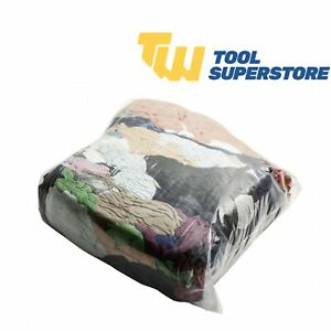 10Kg Bags of Rags Mixed Material Colour Engineer Garage Workshop Industrial Rags