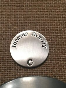 Origami Owl Large SILVER Forever Family Plate Charm NEW