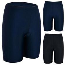 Women Sport Sunscreen Elastic Bathing Bottom Skinny Capris Swim Shorts Trunks