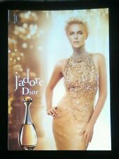 2014 j'adore Dior Charlize Theron Full Page Magazine Print Ad W Perfume Sample