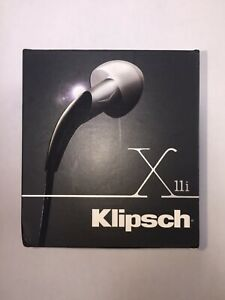 Klipsch X11i Audiophile In-Ear Headphones with Remote & Mic (Black)