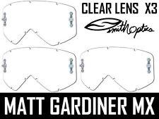 x 3 Original Smith Fuel / Admisión Motocross Gafas Claro Lentes V1 V2