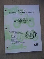 2000 - 2001 Kawasaki Motorcycle Atv Mule Jet Ski Resource Materials Catalog L
