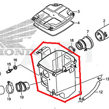 New Honda Airbox Air Box Cover Seal TRX420 TRX 420 2007-2014 FE FM TE TM FPA 4X4