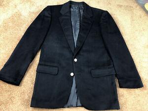 Sulka Solid Navy 100% Cashmere 2 Button Blazer Size 50 U.S. 40