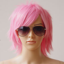 Unisex Man Women Short Hair Wigs Straight Synthetic Hair Costume Cosplay Wig ns8