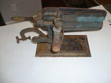 Star Flutter vintage cast iron antique clothing  press  american machine cloth