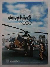 5/1978 PUB AEROSPATIALE HELICOPTERE DAUPHIN 2 SA 365 ORIGINAL FRENCH AD