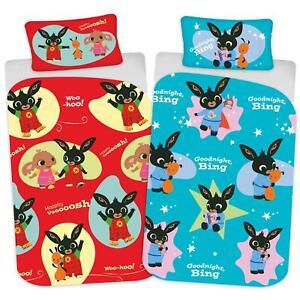 Bing Bunny Hoppity Voosh Single Duvet Cover Reversible Bedding Set
