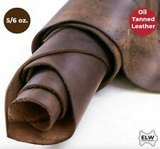"""ELW Tooling Leather 5/6 oz (2mm) Pre-Cut Sizes 6"""" to 48"""" Bourbon Brown..."""