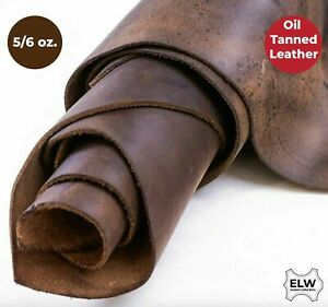"ELW Tooling Leather 5/6 oz (2mm) Pre-Cut Sizes 6"" to 48"" Bourbon Brown..."