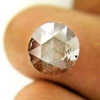 Big Round Natural Diamond 3.51TCW 9.2MM Brown Gray Yellow Mix Sparkling Rose Cut