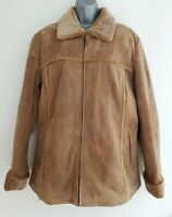 TCM Women's Brown Real Leather Faux-Fur Lining Jacket.Size UK 16/18.