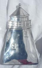 "Vintage Mariposa Brillante Distressed Aluminum Lighthouse Shaped 14"" Dish Tray"